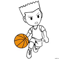 Basketball Drawing Pictures Cartoon Basketball Player Drawing In 4 Steps With Photoshop Kids