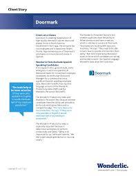 Wonderlic Case Study, Doormark