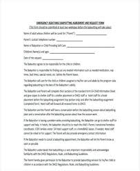 Nanny Sample Contract Babysitter Co Home Daycare Template