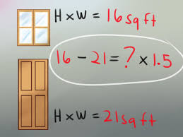 measure the height and width of each door and each window in a room to be painted
