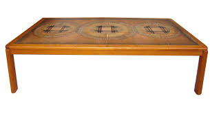 Danish Modern Tile Top Coffee Table