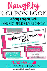Relationship Coupon Book Naughty Coupon Book Confessions Of Parenting