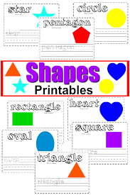 Free Shapes Printable Worksheets + Writing Activities