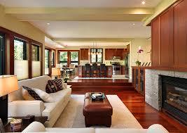 view in gallery sunken living room helps demarcate spaces in an open floor plan