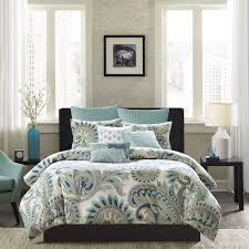 king paisley comforter set ink ivy mira blue duvets comforters the home decorating 17