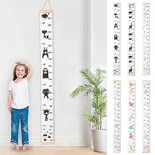 Kids Growth Chart Us 8 73 12 Off Childrens Hanging Kids Growth Chart Wall Sticker Rule Growth Table Wall Sticker Decor Height Measurement Ruler For Kids Height In