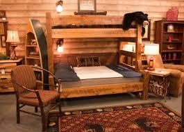 Log Furniture Bedroom Sets Viking Log Furniture Northwoods Twin Over Queen Bunk Bed