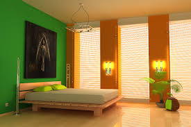 bedroom colors orange. Bedroom:Colorful Bedroom Decorating Idea With Green Orange Paint Wall Color Colorful Colors S