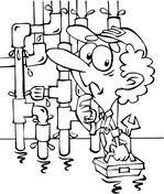 Loodgieter En Toilet Kleurplaat Gratis Kleurplaten Printen