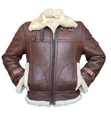men s aviator raf b3 sheepskin fur shearling black brown er flying leather jacket b07fks1nvs