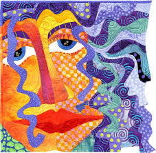 93 best Pictorial Art Quilts images on Pinterest | Cityscapes ... & Girl with Purple Hair Too by Judith Reilly | Quilt Art. Machine pieced and  appliqued Adamdwight.com