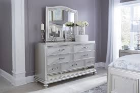 mirror nightstand. mid-sheen silver paint mirror nightstand