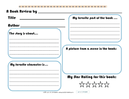 Template Book Review Template Middle School Best Photos Of