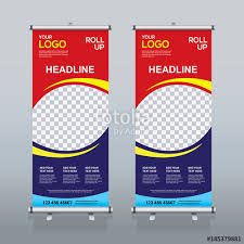 banner design template roll up sale banner design template abstract background pull up