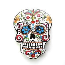 sugar skull wall art metal