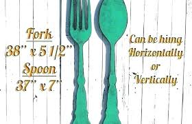 fork spoon wall art fork and spoon decoration wall decoration medium size large utensil wall art