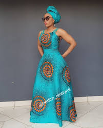 Blue African Dress Designs African Print Maxi Dress Nedim_designs 27829652653