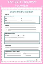 best ideas about babysitter websites food babysitter checklist
