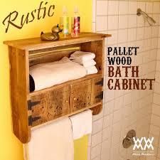 Rustic Bathroom Storage Rustic Bathroom Shelves Rustic Pallet Bathroom Shelf And Towel