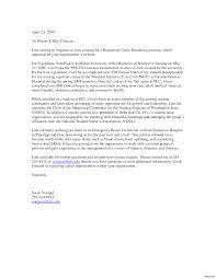 Sample Nursing Cover Letter For Resume Sample Cover Letters Nursing Letter Example Careerperfectcom 24 24