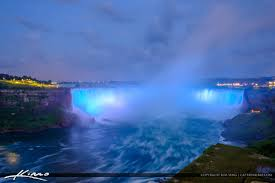 Light And Sound Show Niagara Falls Niagara Falls Light Show Nighttime Canada Blue Lights