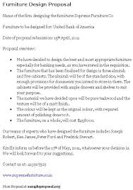 Design Proposal Sample Furniture Design Proposal Sample Proposals