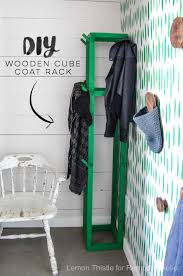 Easy Coat Rack Remodelaholic Easy DIY Wooden Cube Coat Rack For Just 100 64