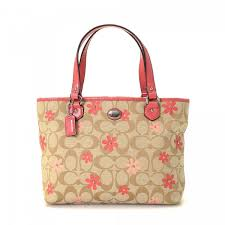 Coach Monogram Flowered Tote