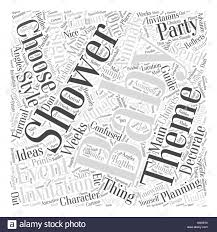 Baby Shower Invitation Ideas Word Cloud Concept Stock Vector