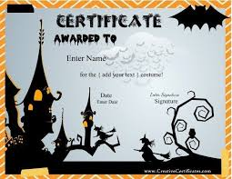 Halloween Costume Awards Halloween Costume Award Certificates English Costume Contest Awards