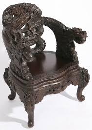Hand carved ebony dragon table