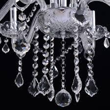 costway elegant crystal chandelier modern 6 ceiling light lamp pendant fixture lighting com