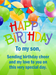 Images For Happy Birthday Son Cheerful Happy Birthday Card For Son