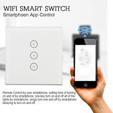 smartphone lighting control. Smart WiFi Switch Wireless Light Control APP Touch Home Timing Function Smartphone Lighting