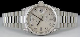 swiss watches rolex mens platinum day date president silver rolex mens platinum day date president silver diamond jubilee 118296