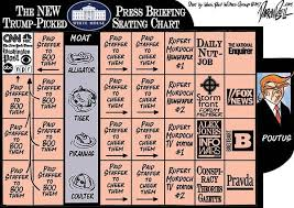 Darrin Bell The Trump White House Press Briefing Seating Chart