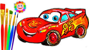 cars drawings for kids. Delighful For Coloring For Childrens McQueen Car  How To Draw Disney Cars Drawing And  Art Colors Kids Throughout Drawings For
