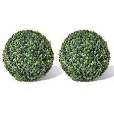 "Buy K&A company <b>Boxwood Ball Artificial Leaf</b> Topiary Ball 13.8"" 2 ..."