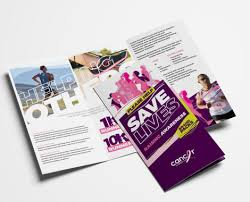Fun Brochure Templates Cancer Charity Fun Run Tri Fold Brochure Template In Psd Ai