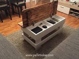 pallet wood coffee table diy furniture