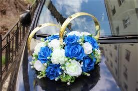 """<b>Набор украшений на машину</b> """"Бело-синий букет из роз с ..."""