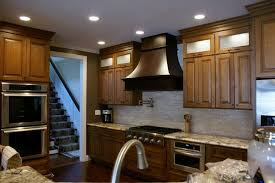 White Spring Granite Kitchen Simple Wood Range Hood For Kitchen With White Springs Granite And
