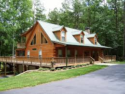Modular Cabin With Split Log Siding By Nationwide Homes Rustic