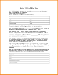 Bill Of Sale Dmv Motor Vehicle Bill Of Sale Sample Templates Sample Templates 23