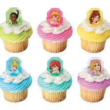 12 Disney Gemstone Princess Cupcake Cake Rings Birthday Party Favors