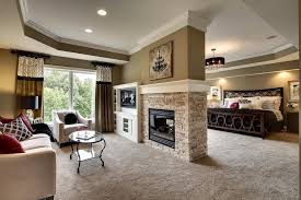Master Suite With Sitting Room And 2-sided Fireplace In  Pinterest