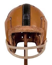 notre dame leather football helmet 1940 s