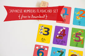 Learn colors with your kids with colorful word cards of red, green, yellow, brown, etc. Japanese Numbers Flashcard Printable Gus On The Go Language Learning Apps For Kids