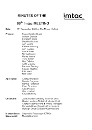 MINUTES OF THE 90 Imtac MEETING