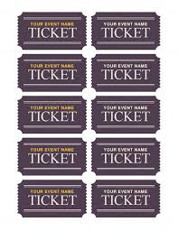 Perforated Raffle Ticket Sheets Basic Tickets 10 Per Page